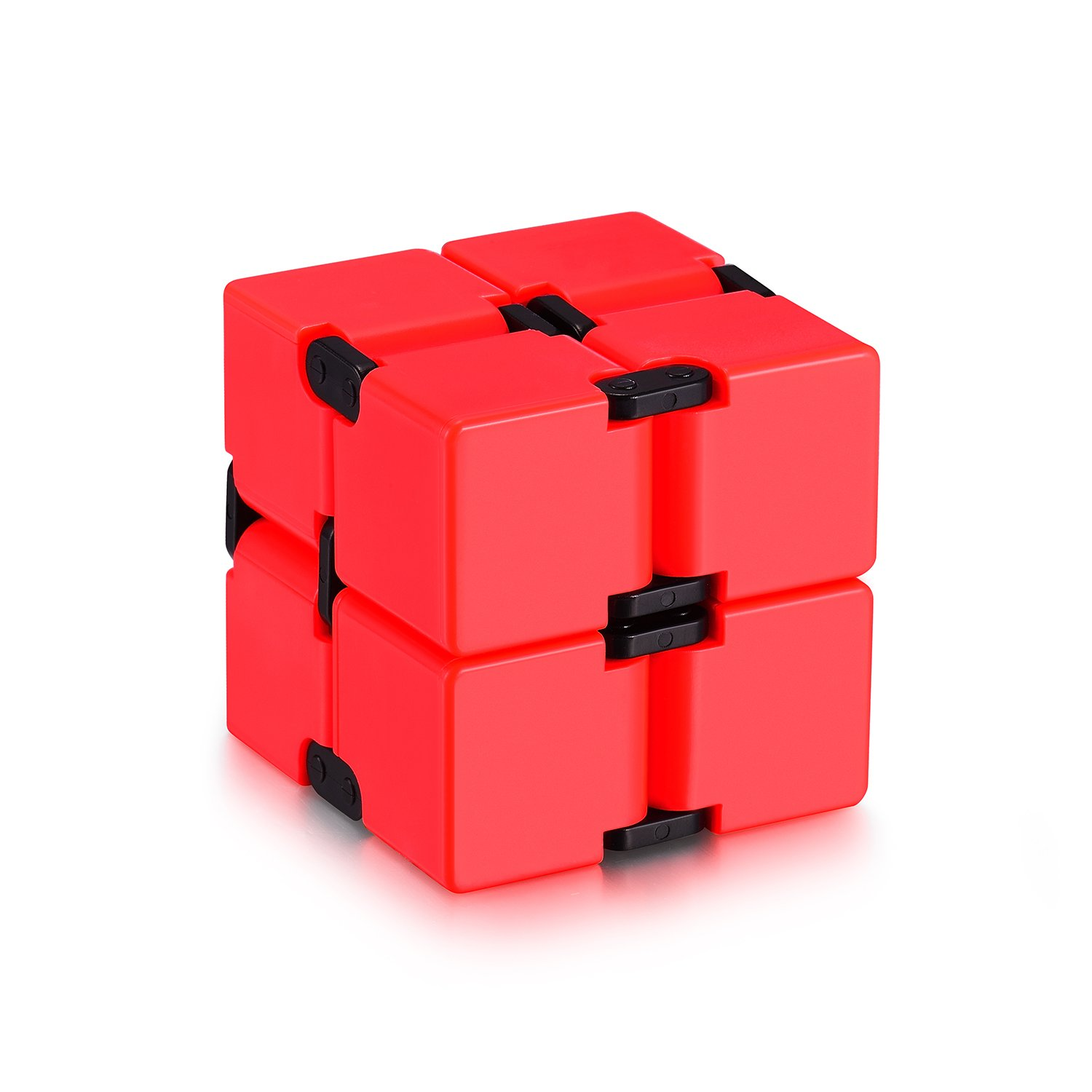 Infinity Cube Fidget Cube Toy for Adults & Kids Relieve Stress & Anxiety Hand Fidget Stress Reducer Best for ADD,ADHD,OCD,Anxiety Disorder,Autism by Ganowo (Red)