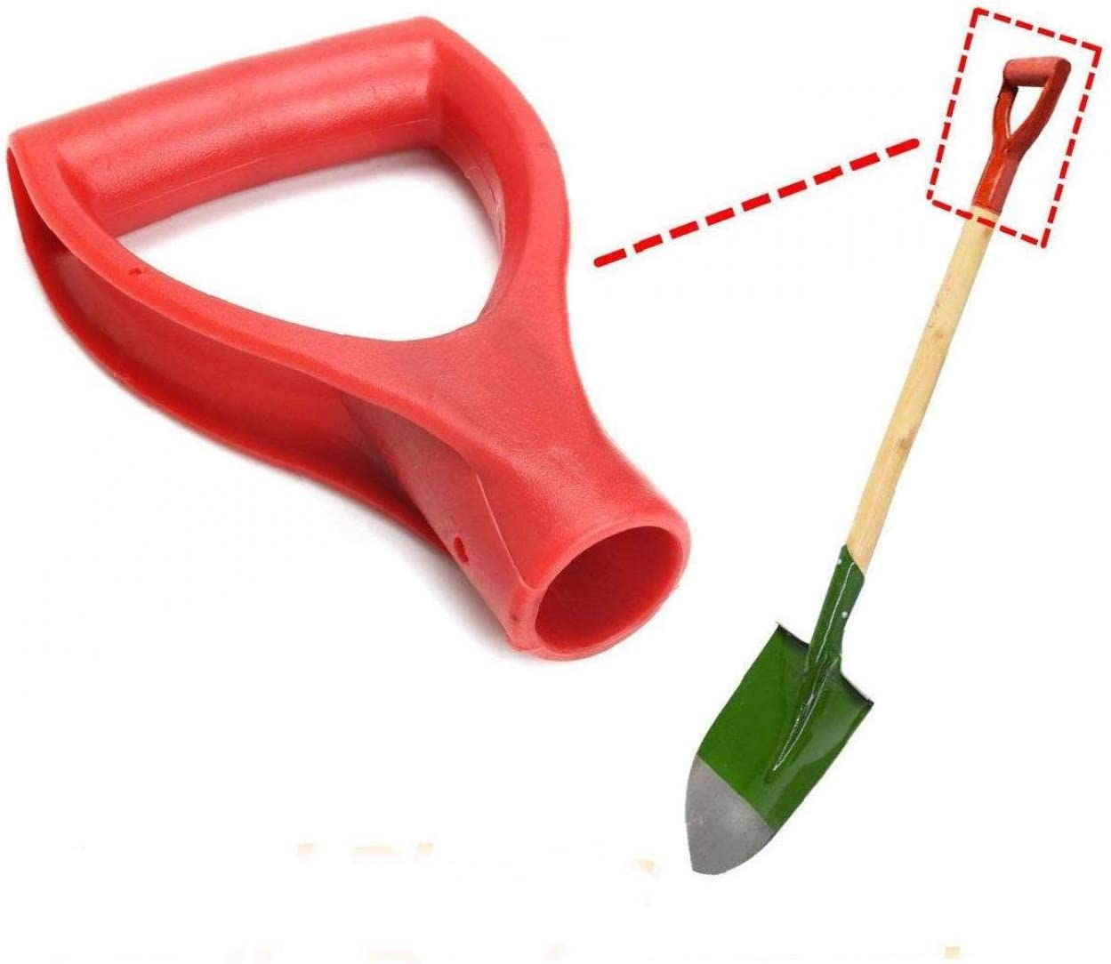 MaylFre Replacement Snow Shovel D Grip Handle Plastic Snow Scoop Handle for Shovels Fork Spade Garden Accessories Red