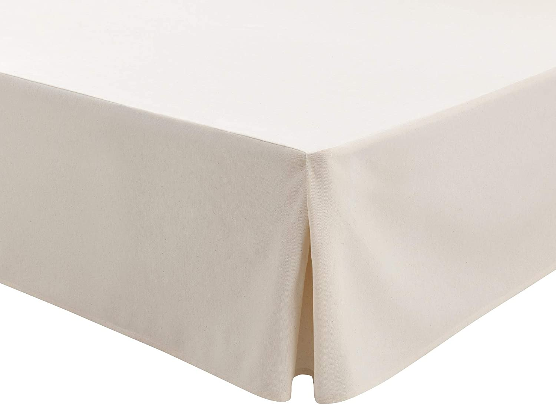 Easycosy - Cubre Canapés para Somier ATENEA Faldon para Cama 90 cm Cubrecanape - Color Crudo (90x190/200cm)