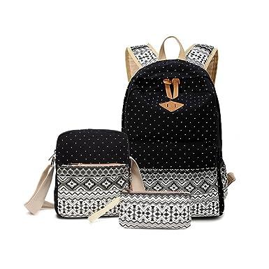 Three-piece Leisure Backpacks 7468293635f68
