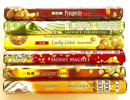 (GR Incense Sticks 6 Boxes X 20 Sticks, Variety Pack (#1))