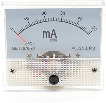 DC 30mA YXQ Analog Ammeter Current Panel 91C4 Amp Gauge Meter 2.5 Accuracy for Auto Circuit Measurement Tester
