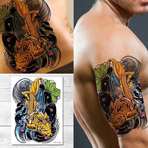 Koi Tattoo - Supperb Temporary Tattoos - Koi Fish Tattoo