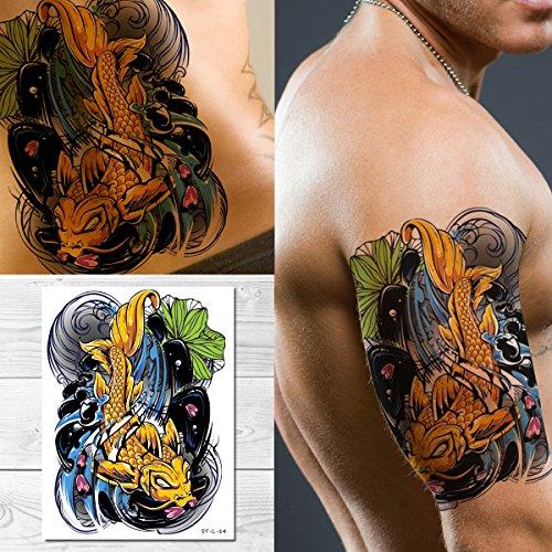 Koi Tattoo - Supperb Temporary Tattoos - Koi Fish Tattoo