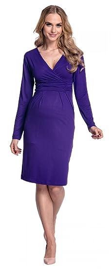 Happy Maternidad Mama Mujer vestido cabe en todas las Fases el embarazo 285p morado 46: Amazon.es: Ropa y accesorios