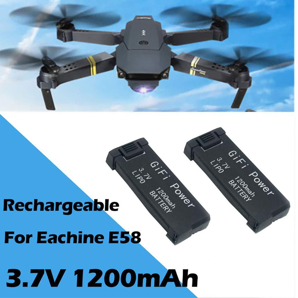 Ic/óptero,TwoCC 3.7V 1200Mah 2Pcs Upgrade Lipo Battery Para Eachine E58//S168//Jy019 Rc Drone
