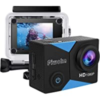 Deals on Piwoka Action Camera 1080P 12MP Waterproof