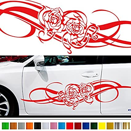Rose car sticker car vinyl side graphics 165 car vinylgraphic custom stickers decals