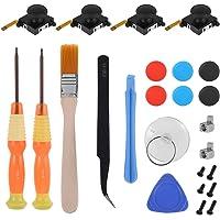 25Pcs Replacement Controller Kit Repair Parts 3D Analog Thumb Stick Joystick Caps Replacement Controller Kit for Nintend…