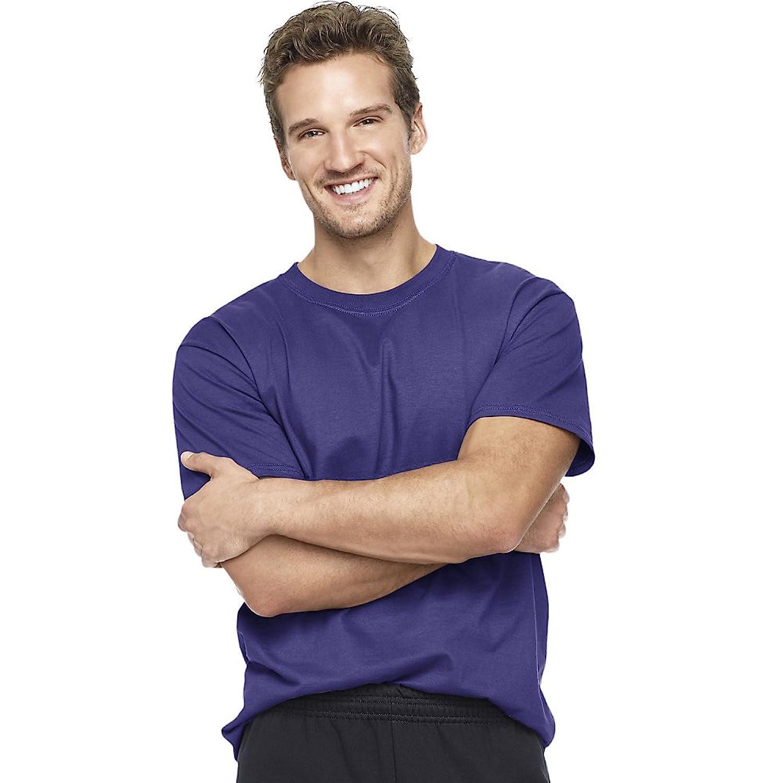 Hanes Men's Short Sleeve Beefy T-Shirt (Purple) (2X-Large)