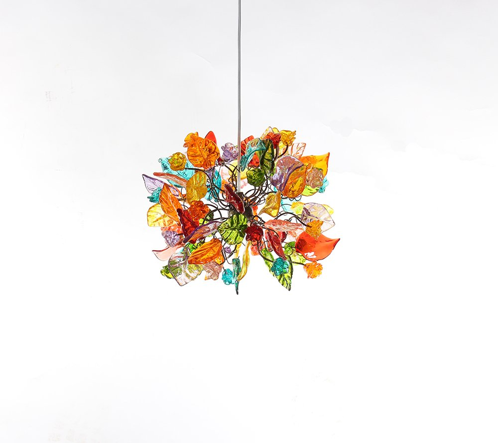 Chandalier Ceiling Lights Colorful leaves and flowers - Decorations pandent light for Living Room - Unique Lamps - Suspended Lighting - Kitchen lighting - Dining Room Lighting - Living Room Lighting