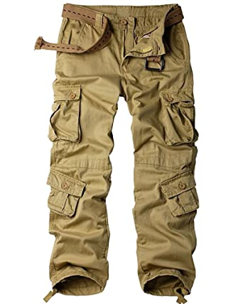 Toomett Men s Cotton Casual Military Army Cargo Camo Combat Work Pants with  8 Pocket  6058 3d2ea817908
