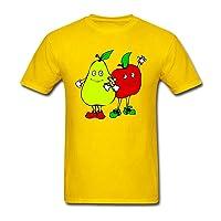 Husba Men's DIY Cartoon Fruit T-Shirt