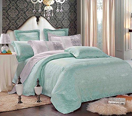 Review Gray Teal Comforter Set