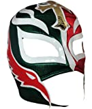 REY MYSTERIO Adult Lucha Libre Wrestling Mask (pro-fit) Costume Wear - Mexico Flag