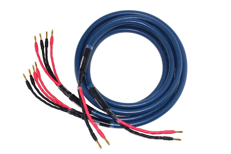超高純度銅 12芯 バナナプラグ付 B07MVC2P8W  2.5m/ブルー 2.5m/ブルー