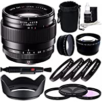 Fujifilm XF 23mm f/1.4 R Lens + 62mm 3 Piece Filter Set (UV, CPL, FL) + 62mm +1 +2 +4 +10 Close-Up Macro Filter Set with Pouch + 62mm Wide Angle Lens + 62mm 2x Telephoto Lens with pouch Bundle 3