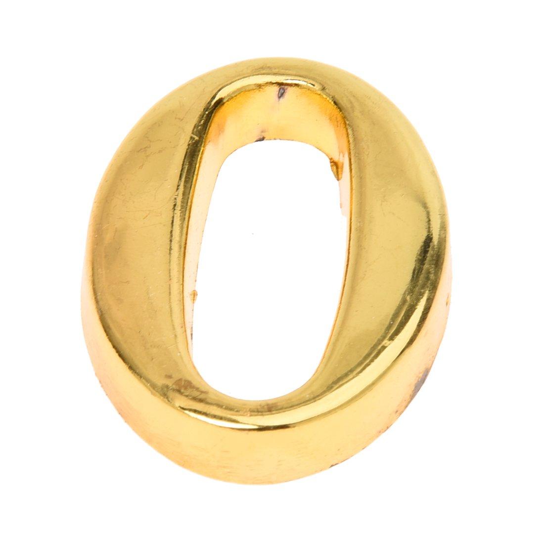 TOOGOO Plaque de numero en zinc aluminium de metal or de porte de la Maison ou de l'hotel avec vis, Plaque de signe de maison 9 SODIAL AEQW-WER-AW137342