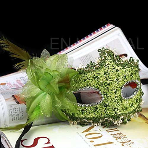 Lily' (Green Masquerade Masks)