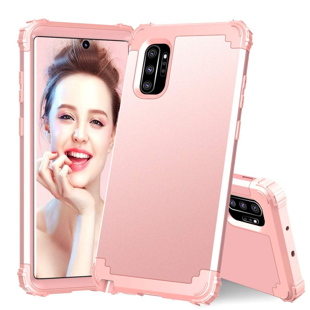 Fasclot Case Designed for Samsung Galaxy Note 10 6.3 inch,2019 New PC Four Corner Drop-Proof TPU 5G Phone Protective Cover Reinforced Corner Bumpers Anti Slip