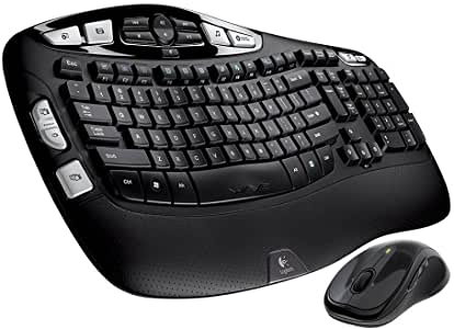 Logitech Wireless Wave Combo Mk550 With Keyboard and Laser Mouse (Renewed)