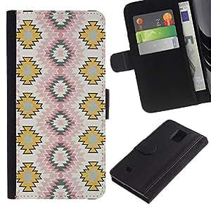 iBinBang / Flip Funda de Cuero Case Cover - Art Wallpaper Pattern Zigzag - Samsung Galaxy Note 4 SM-N910