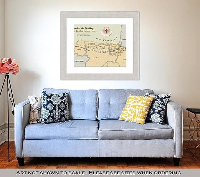Amazon.com: Ashley Framed Prints Old Style Map of Saint ...