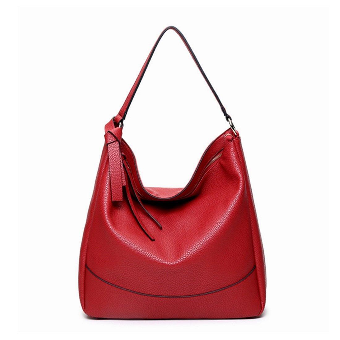 Ploekgda Frauen Zipper Handtaschen Leder Handtaschen Aktentasche
