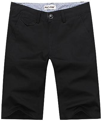 Mocotono Men's Casual Slim Fit Cotton Multi-Pocket Twill Cargo Shorts Black  1 Tag 32