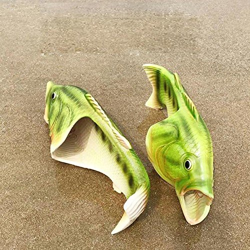 Sandals Women 1 Pack Beach Funny MAXGGODS Fish Slippers Pair Style US Summer Size Of Men maxgoods 75nXfqn