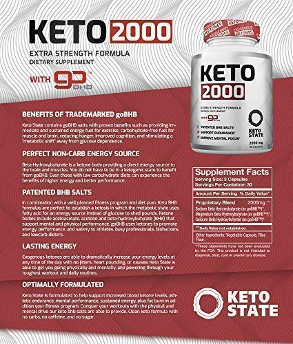 Keto Pills - Advanced Keto Diet Pills(90 ct) with Patented GoBHB Exogenous Ketones - Max Strength Formula