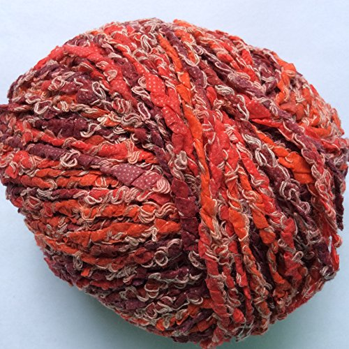 adrienne-vittadini-bettina-14-red-burgundy-off-white-marled-viscose-nylon-linen-yarn-50-gram