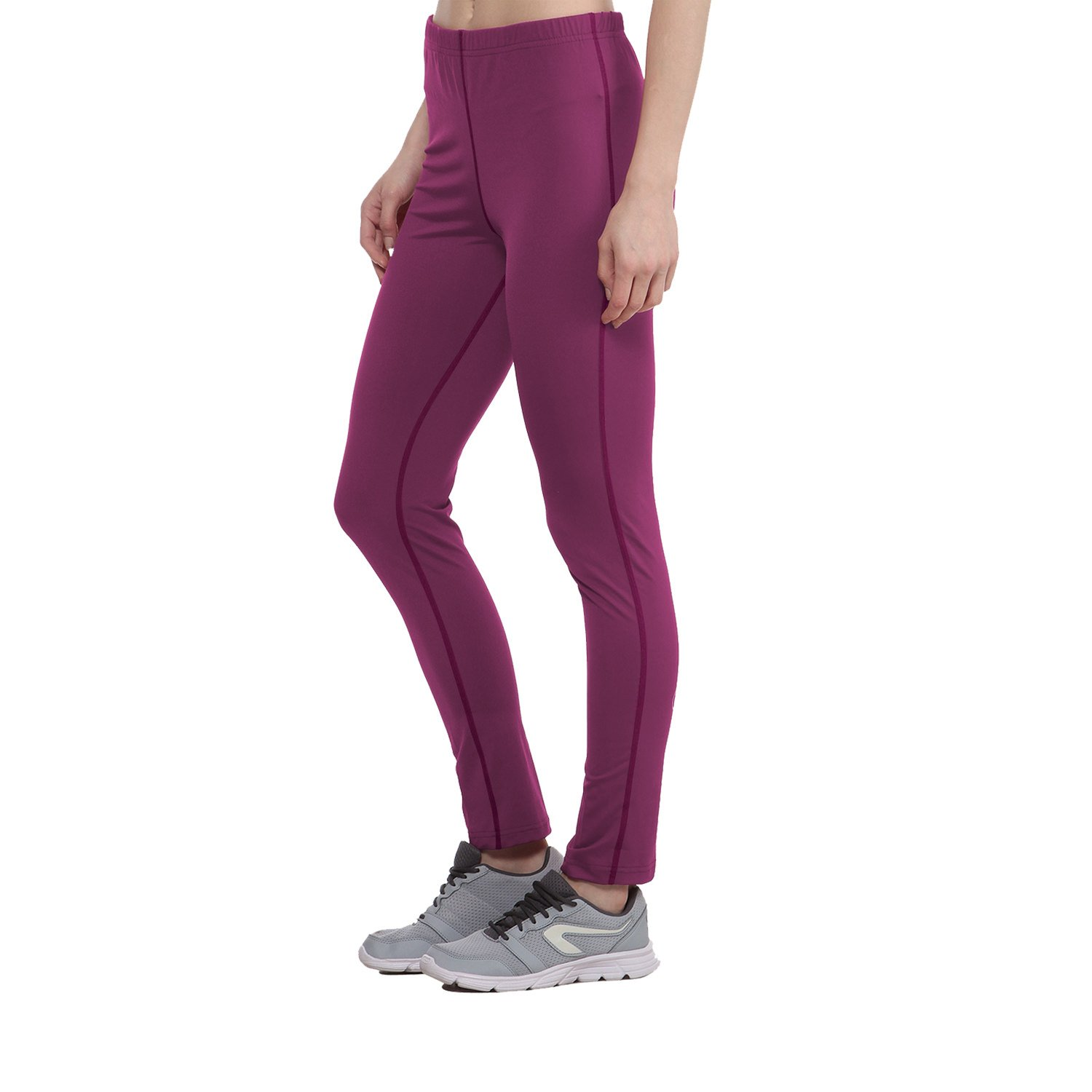 a60a665953e79 CHKOKKO Polyester Women Solid Yoga Sports Stretchable High Waist Track Yoga  Pant in Magenta Size XL: Amazon.in: Clothing & Accessories