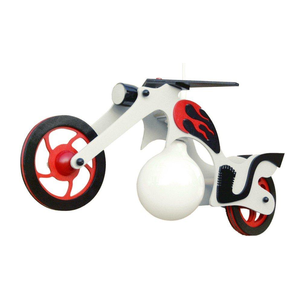 Elobra Kinder Pendelleuchte Chopper Uno, Weiß, Holz, 125380