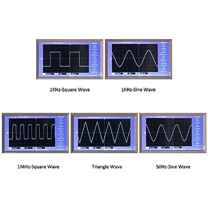 DIY Tri/ángulo Salida cuadrada 1Hz-1MHz Amplitud de frecuencia ajustable Generador de se/ñales XR2206 Generador de se/ñales Kit de bricolaje Sinusoide