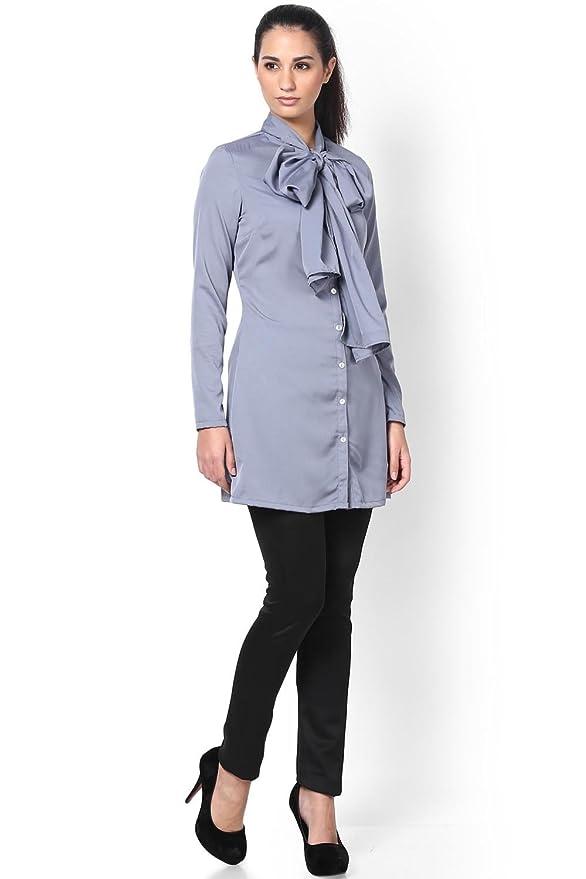 ba66068a3c0e21 Kaaryah Women s Broad Long Collar Shirt at Amazon Women s Clothing store