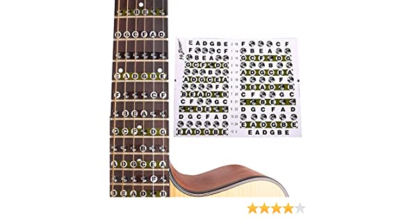Peretón de Guitarra Pegatina Mapa notas de trastes para Guitarra ...