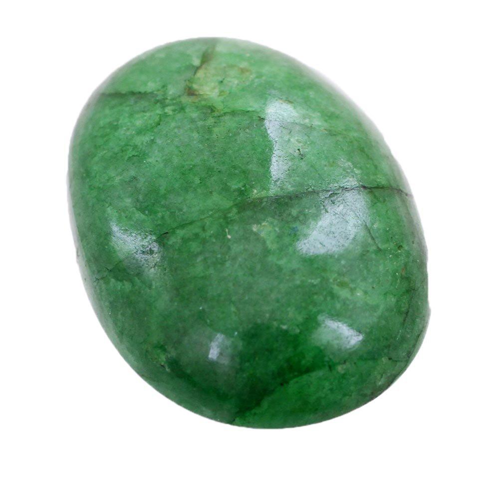 skyjewels 15.30 Carat Natural Oval Cabochon Emerald Gemstone