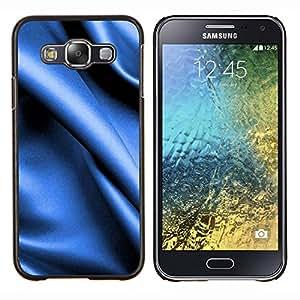 For Samsung Galaxy E5 E500 Case , Textura azul de la tela- Diseño Patrón Teléfono Caso Cubierta Case Bumper Duro Protección Case Cover Funda