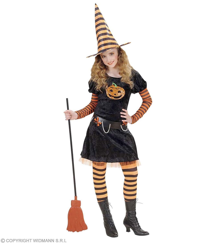 WIDMANN wdm58647 – Kostüm für Kinder Pumpkin Witch (140 cm 8 – 10 Jahre), mehrfarbig, XS B0048766YK Hüte & Kopfbedeckungen Niedriger Preis und gute Qualität | Sofortige Lieferung
