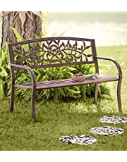 Wind & Weather FN9177 Tuscany Iron Metal Outdoor Garden Bench