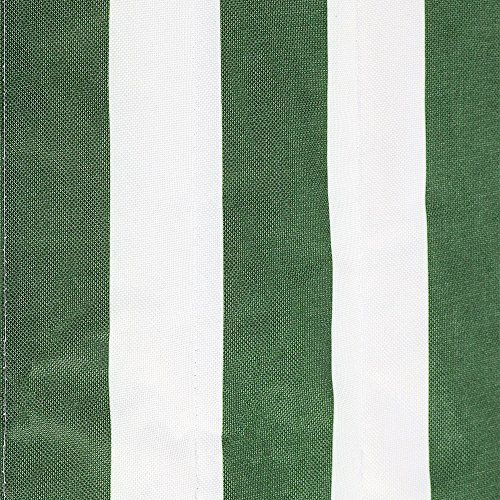 Sunnydaze Polyester Quilted Hammock Pad and Pillow Set Only, Outdoor Weather-Resistant, Green/White Stripe
