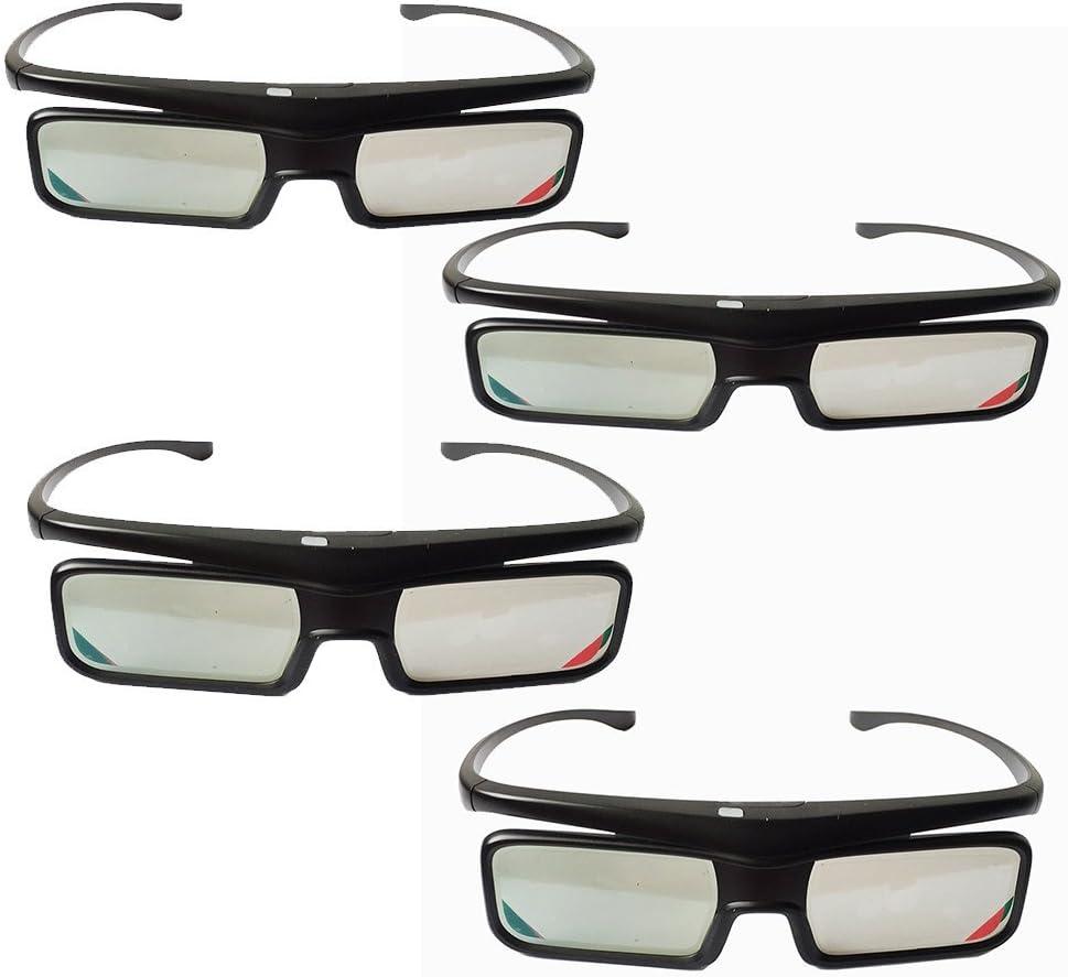 4pcs Gafas 3D activas de Bluetooth para Nokia Samsung Sony Toshiba TV TCL reemplazar lentes: Amazon.es: Electrónica