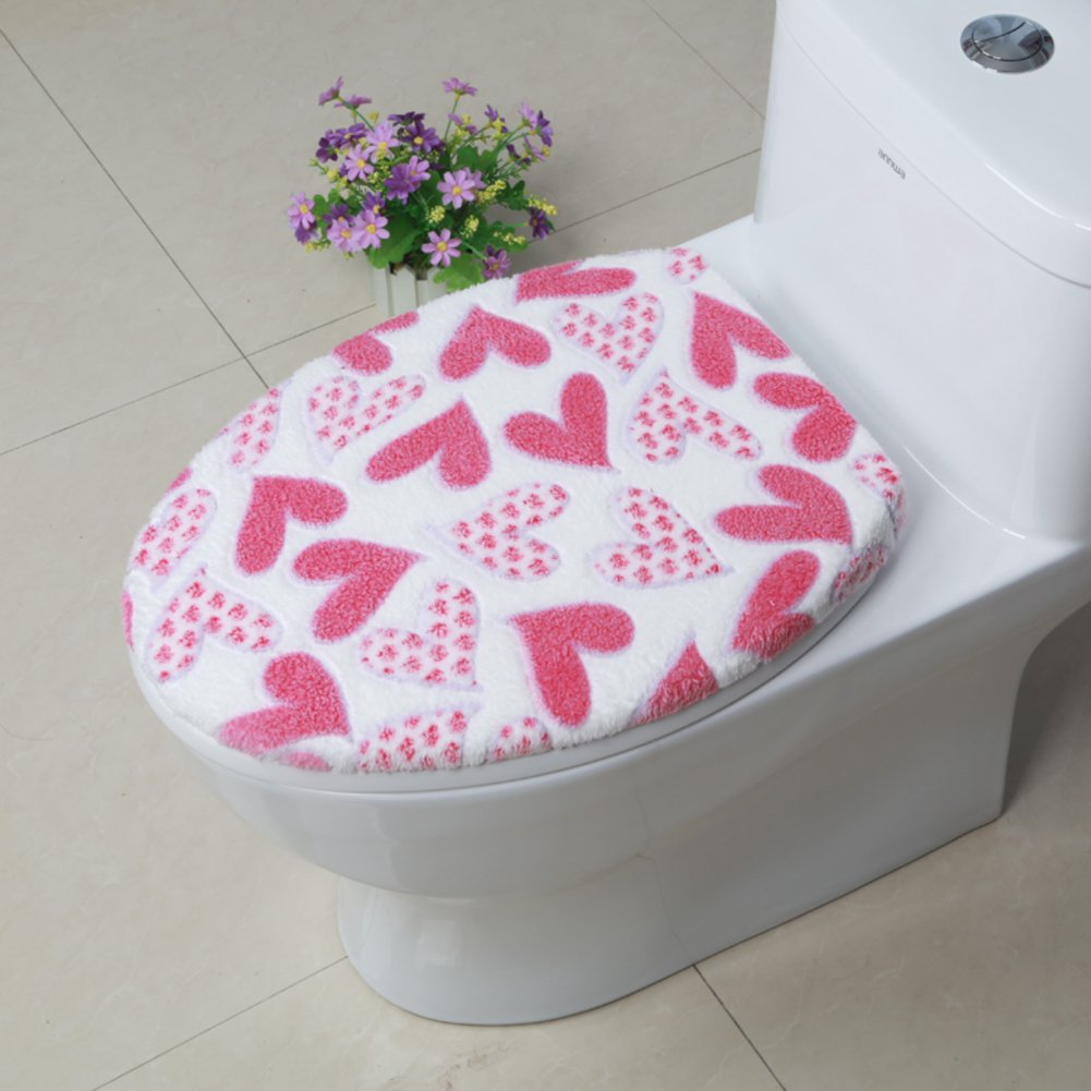 lililili Tank cover,Luxury toilet seat cover bathroom super warm soft comfy -Dseat Cover machine washed Thicken