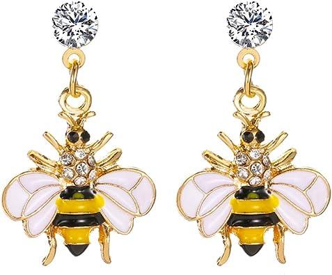 Bee Rhinestone Earrings Bumble Bee Earrings Honey Bee Earrings