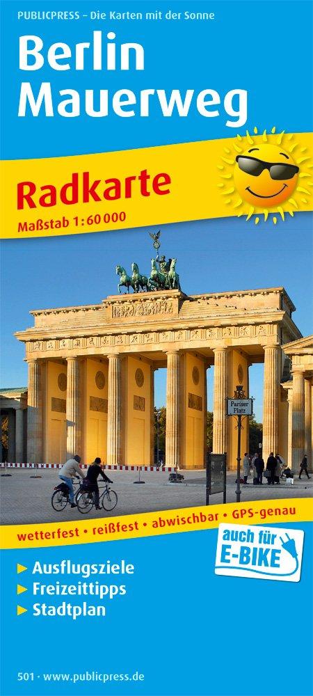 Berlin Mauerweg: Radkarte mit Ausflugszielen & Freizeittipps und Stadtplan sowie S- und U-Netz, wetterfest, reissfest, abwischbar, GPS-genau. 1:60000 (Radkarte / RK) Landkarte – Folded Map, 1. Juli 2017 PUBLICPRESS 3899205014 Karte; Radkarte Berliner M