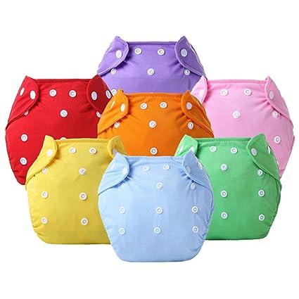 ledyoung niños pantalones de entrenamiento para bebé infantil lavable Cloth Diaper Nappy Ropa interior Boy y
