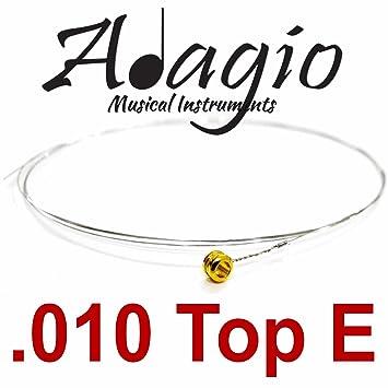 5 x 010 E Adagio único para cuerdas de guitarra eléctrica .010 Calibre 10: Amazon.es: Instrumentos musicales