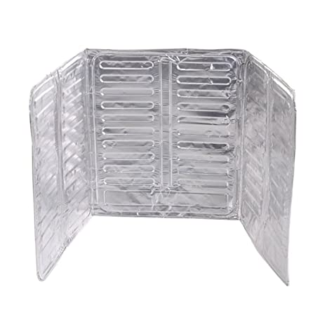 OUNONA Herramienta de cocina de pantalla de salpicadura de aceite de escudo de la estufa de gas Splash Guard lámina de aluminio para aceite de pared ...