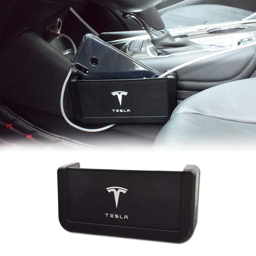 MASHA Car Seat Gap Organizer Car Storage Box with Charging Ports Car Console Side Organizer for Tesla Model 3 Model S Model X Series Accessories